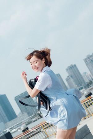 Vol.140 学生妹制服诱惑清纯美女波萝社-柳侑绮完整私房照合集