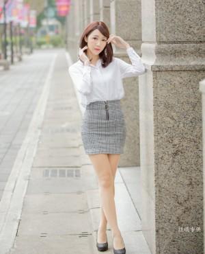 VOL.616 [台湾正妹]街拍衬衫OL美女街拍美臀白领丽人:彭琁超高清个人性感漂亮大图(94P)