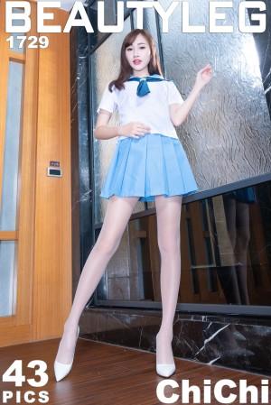 VOL.488 [Beautyleg]水手服丝袜美腿肉丝袜:腿模ChiChi超高清个人性感漂亮大图(43P)